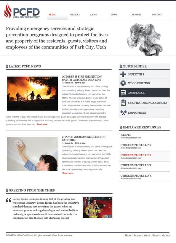 PCFD website circa 2009
