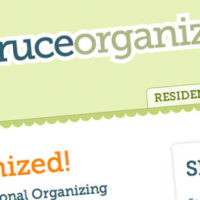 Spruce Organizing website design sample