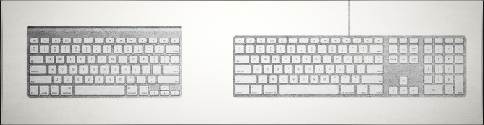 Apple Aluminum Keyboards - Wired & Wireless