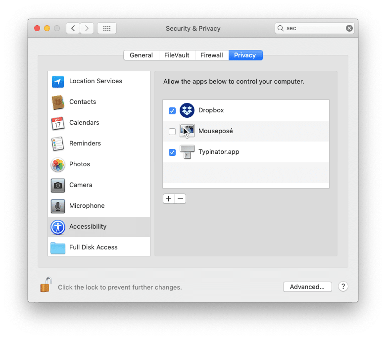 Solved: Typinator not working in MacOS Mojave | Spigot Design